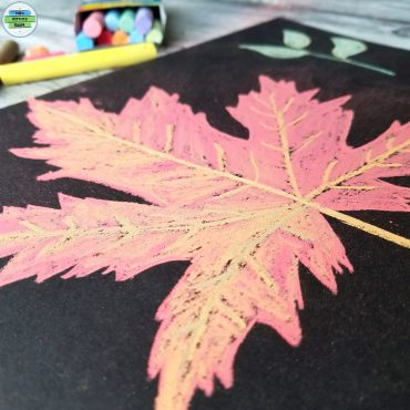 Autumn Leaf With Chalk Paints