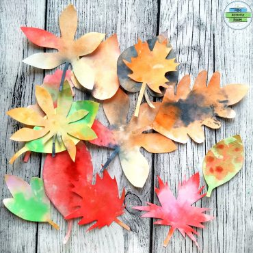 Bleeding Crepe Paper Art-Fall Leaves