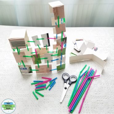 Building With Cardboards And Plastic Straws