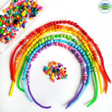 Rainbow With Beads and Pipecleaners