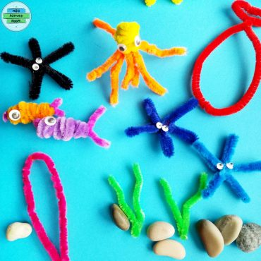 Sea Animals with Pipe Cleaners