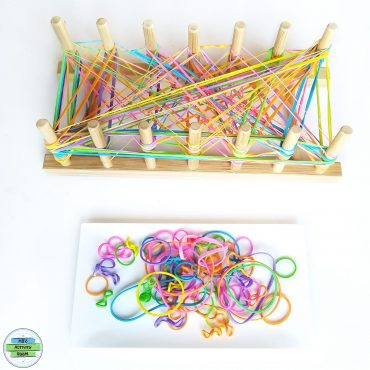 Hand Strengthening With Plate Rack And Rubber Bands