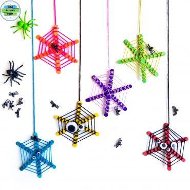 Popsicle Stick Spider Webs