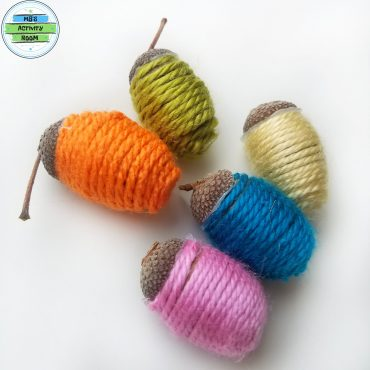 Yarn Wrapped Acorns
