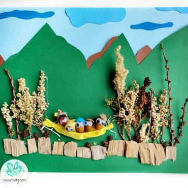 Acorn Family Nature Collage